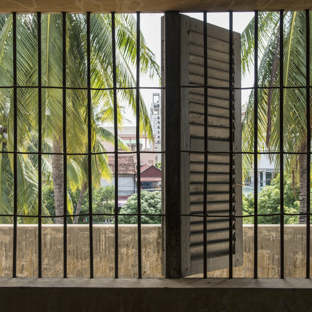 """""""Tuol Sleng Genocide Museum"""" stock image"""