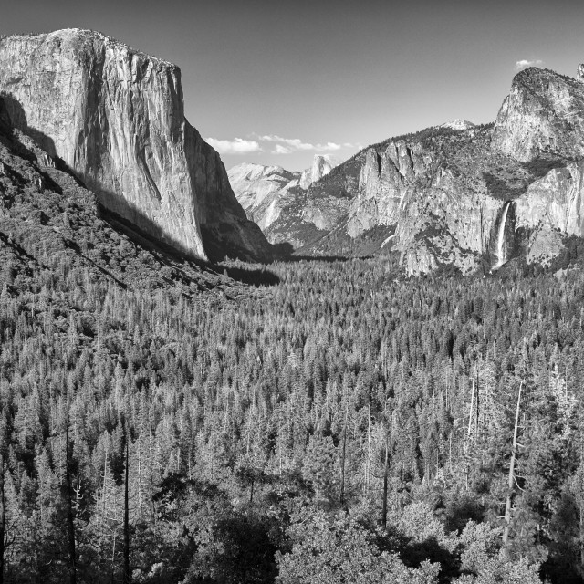 """Yosemite Valley from the Tunnel Viewpoint, Yosemtie National Park, California, USA"" stock image"