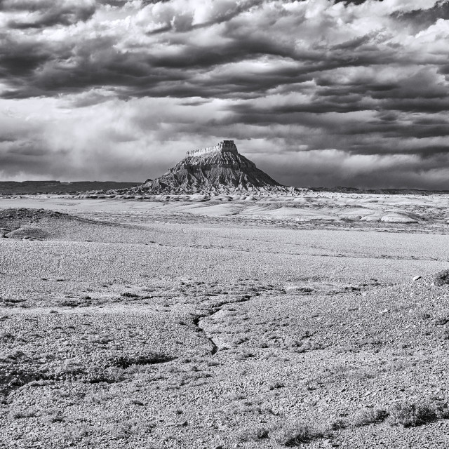 """Factory Butte in Utah, USA"" stock image"