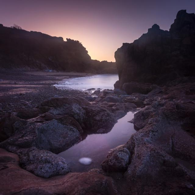 """""""Donkey Rock sunrise"""" stock image"""