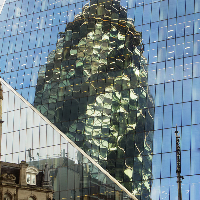 """The ""Gherkin"" building London"" stock image"