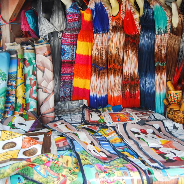 """Artesanal Market in St Marteen"" stock image"