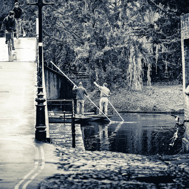 """Garret Hostel Bridge in Black and White"" stock image"