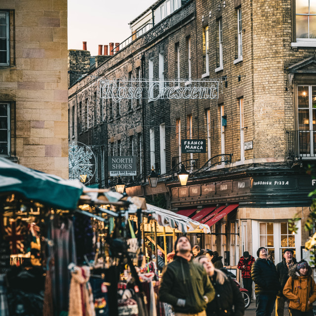"""""""Market Square Cambridge"""" stock image"""