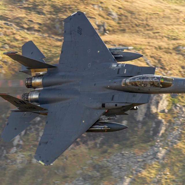 """""""F-15E Strike Eagle"""" stock image"""