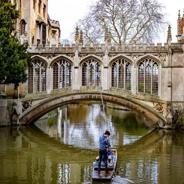"""Bridge of Sighs Cambridge uk."" stock image"