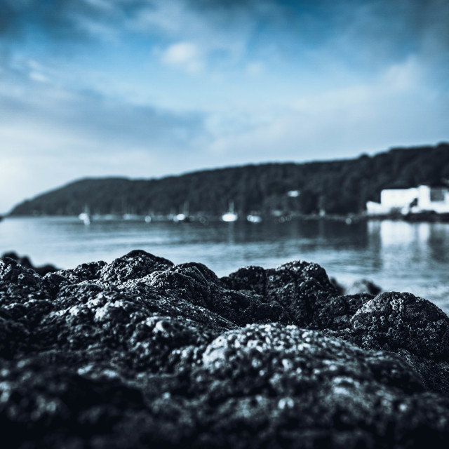 """""""Kingsand Beach Cornwall UK"""" stock image"""