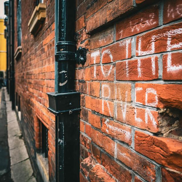 """Garret Hostel Lane Cambridge UK."" stock image"