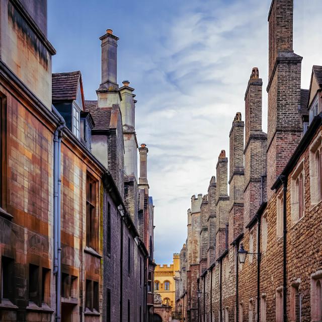 """Trinity Lane Cambridge UK."" stock image"