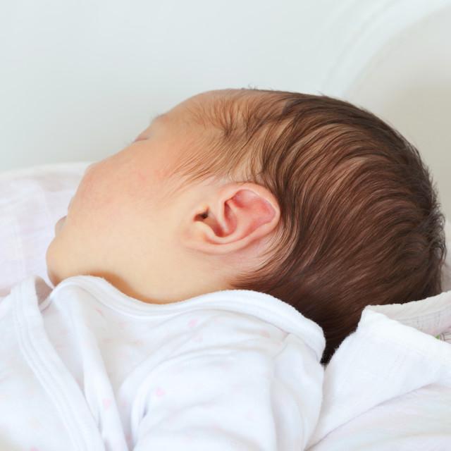 """Portrait of a newborn Baby Girl"" stock image"