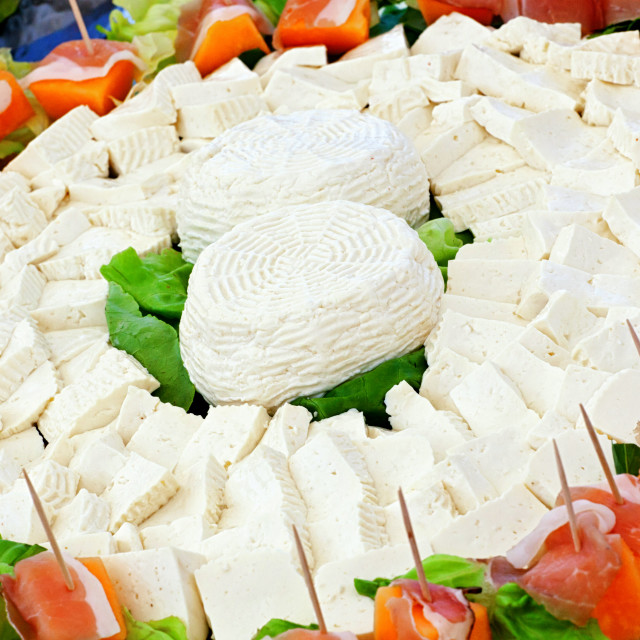 """Ricotta cheese, typical Italian cheese product."" stock image"