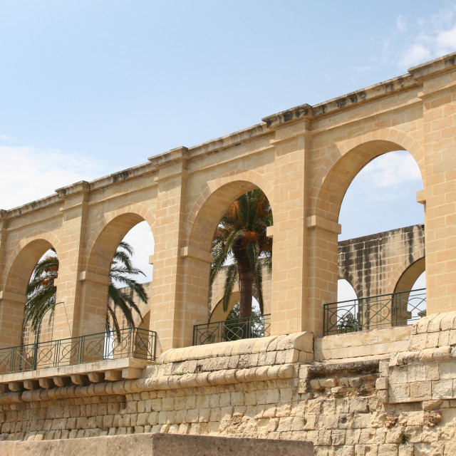 """""""Arches Upper Barrakka Gardens in Valletta, Malta"""" stock image"""