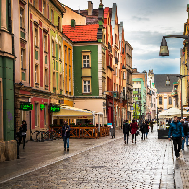 """""""Wroclaw central market square (rynek)"""" stock image"""