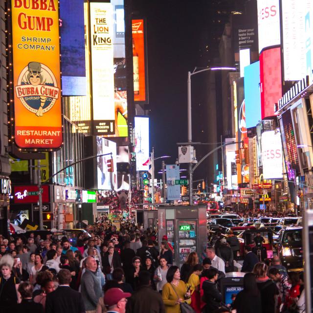 """Times Square at night - New York V"" stock image"