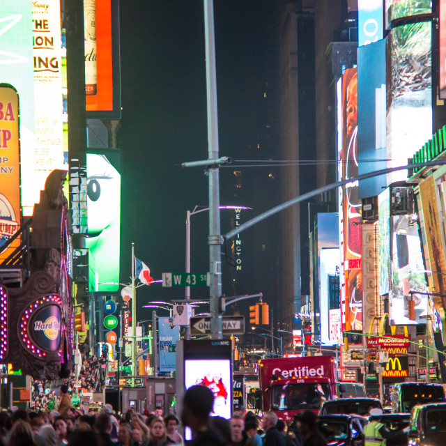 """""""Times Square at night - New York II"""" stock image"""
