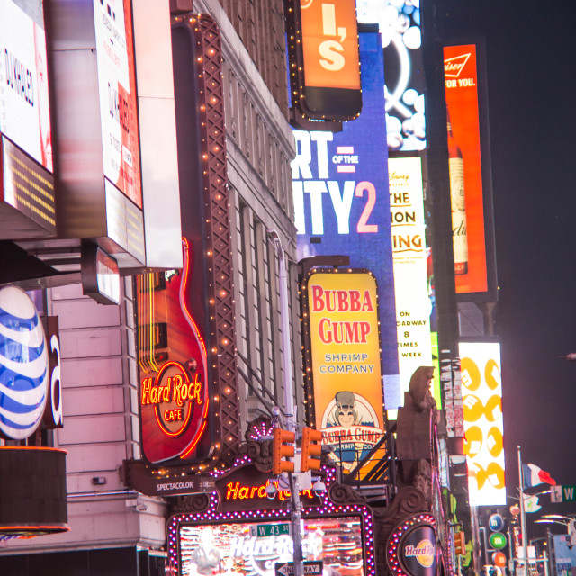 """""""Times Square at night - New York III"""" stock image"""