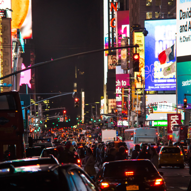 """""""Times Square at night - New York VII"""" stock image"""
