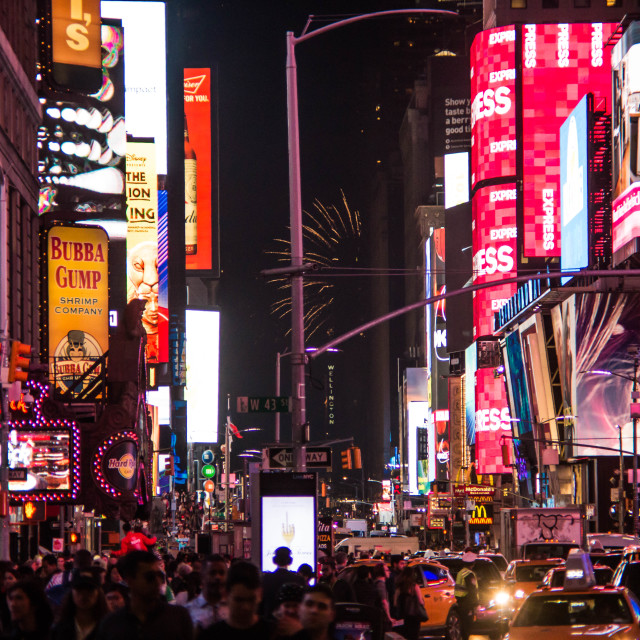 """""""Times Square at night - New York IV"""" stock image"""