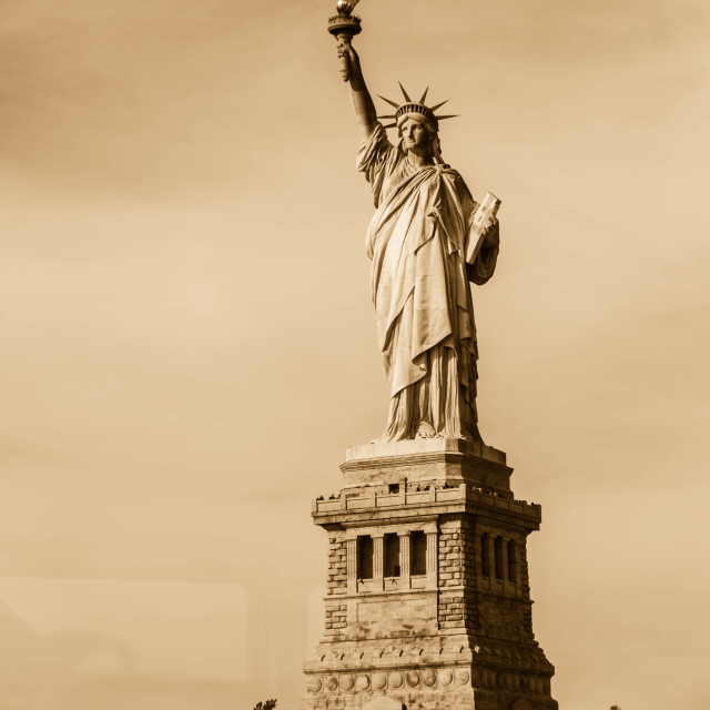 """The Statue of Liberty - Sepia"" stock image"