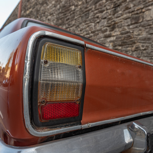 """""""car rear light and direction indicator"""" stock image"""