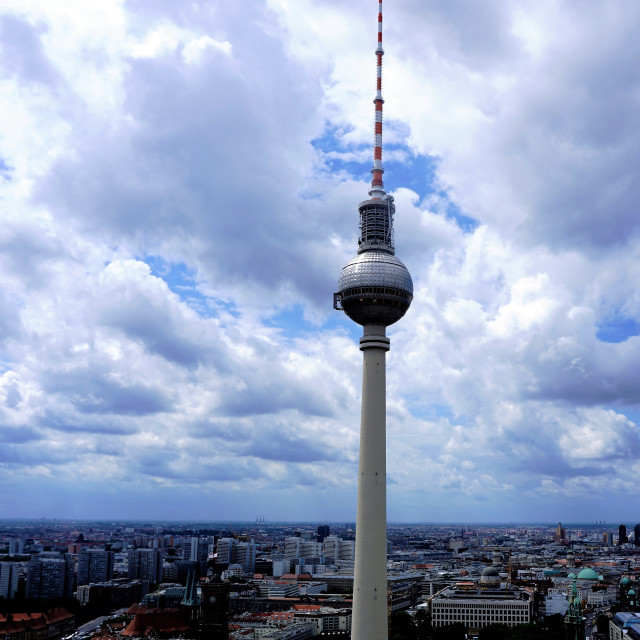 """View over Berlin with television tower"" stock image"