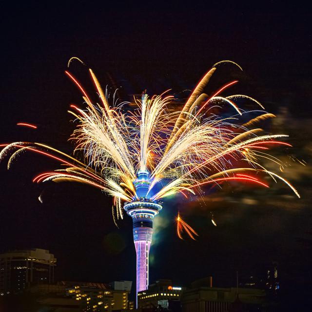 """Sky-City fireworks"" stock image"