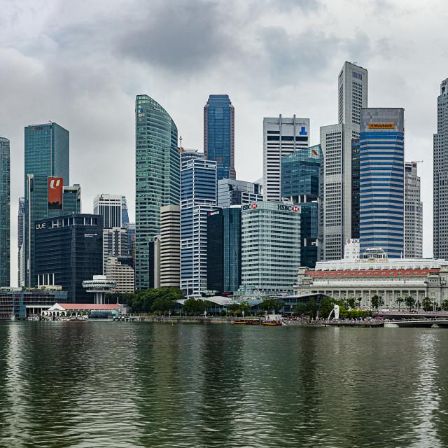 """financial hub of singapore"" stock image"