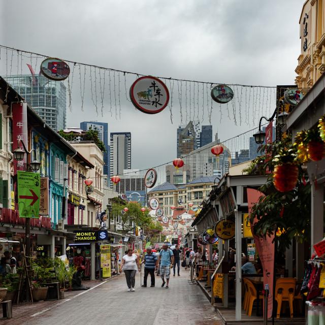 """Singapore Chinatown"" stock image"