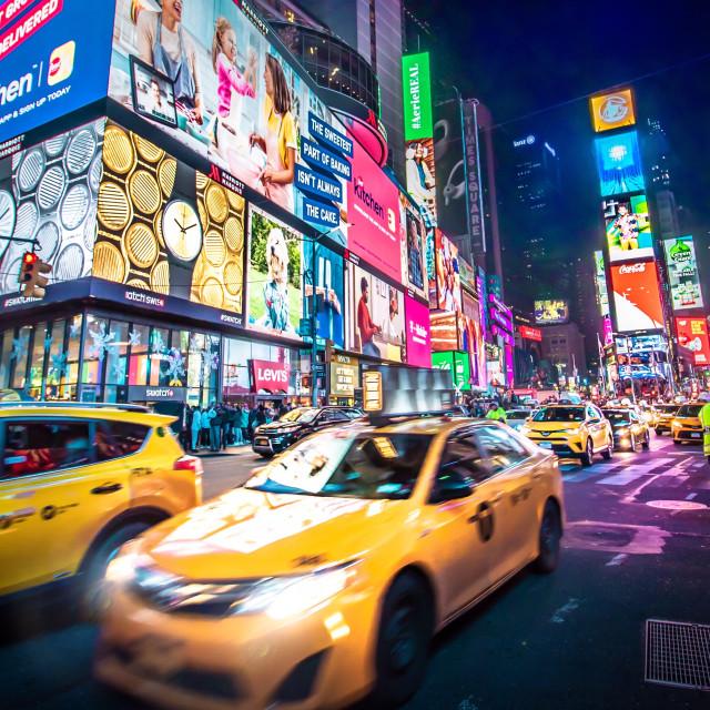 """Times Square Craze"" stock image"