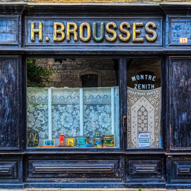"""""""Old French Shopfront 1"""" stock image"""