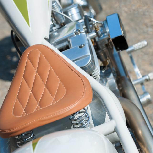 """""""stitched leather saddle"""" stock image"""