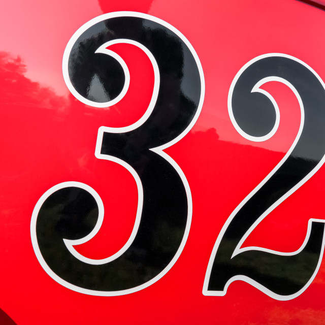 """number 32"" stock image"