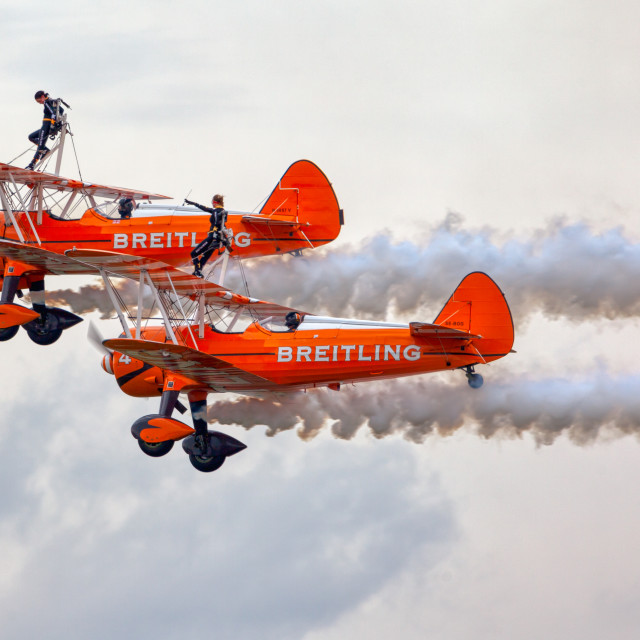 """Breitling Wing Walkers"" stock image"
