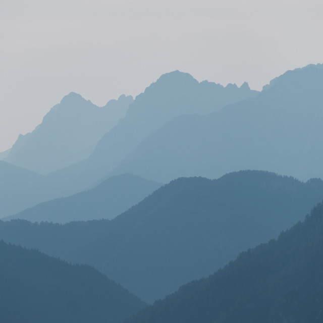 """Mountain layers"" stock image"