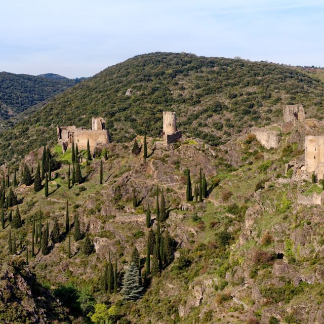 """""""Lastours castle"""" stock image"""
