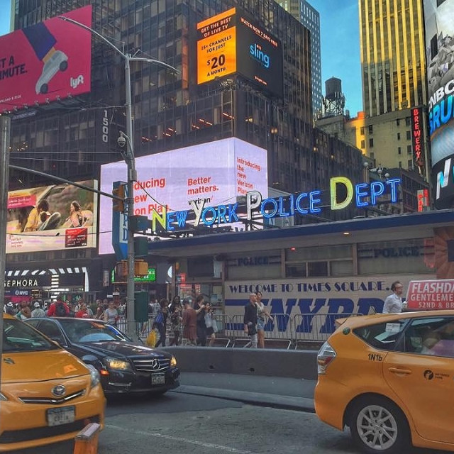 """""""New York NYPD Times Square"""" stock image"""