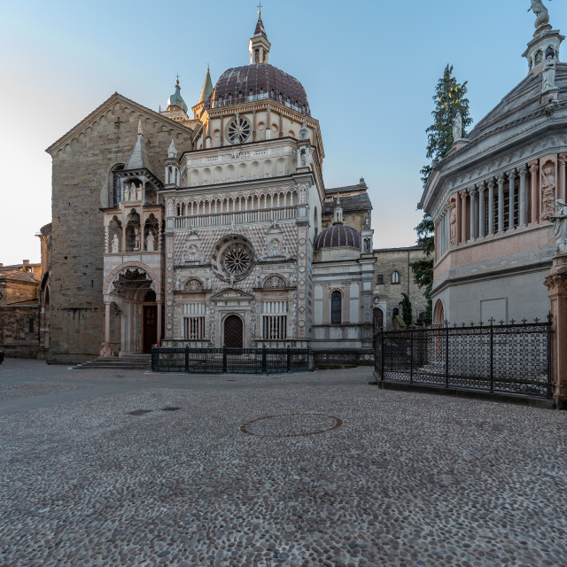 """""""View of an Italian historic church. Basilica of Santa Maria Magg"""" stock image"""