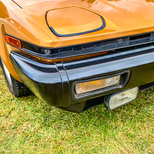 """""""Tichborne, Hampshire, England September 7 2019. Triumph TR7 Roadster Front"""" stock image"""