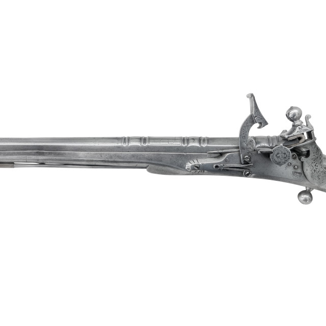 """""""Isolated Antique Silver Pistol"""" stock image"""