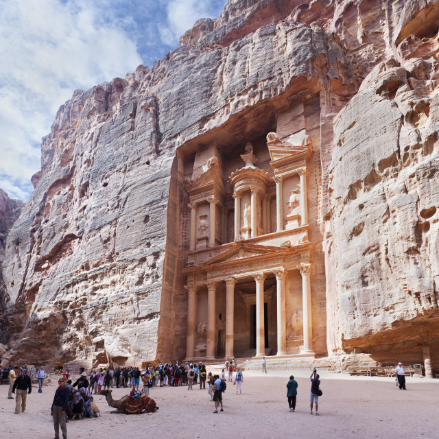 """The Treasury at Petra"" stock image"