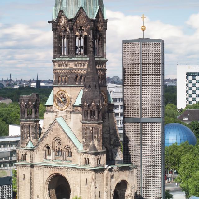 """""""Kaiser Wilhelm Memorial Church"""" stock image"""