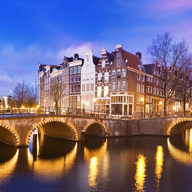 """""""Keizersgracht Canal at dusk"""" stock image"""
