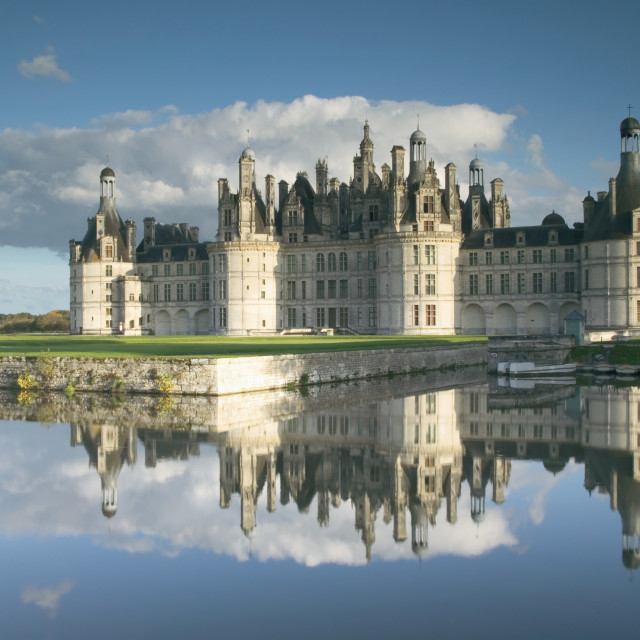 """""""Chateau Chambord in the afternoon"""" stock image"""