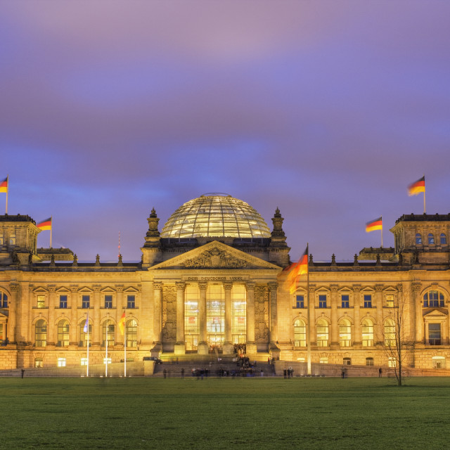 """""""The Reichstag at dusk"""" stock image"""