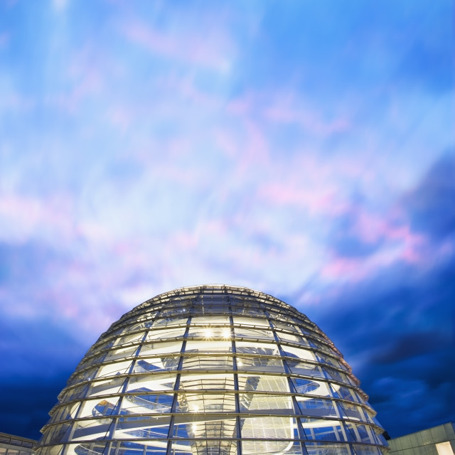 """""""The Reichstag Dome at dusk"""" stock image"""