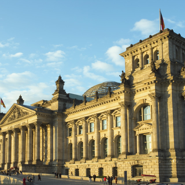 """""""The Reichstag in the afternoon"""" stock image"""