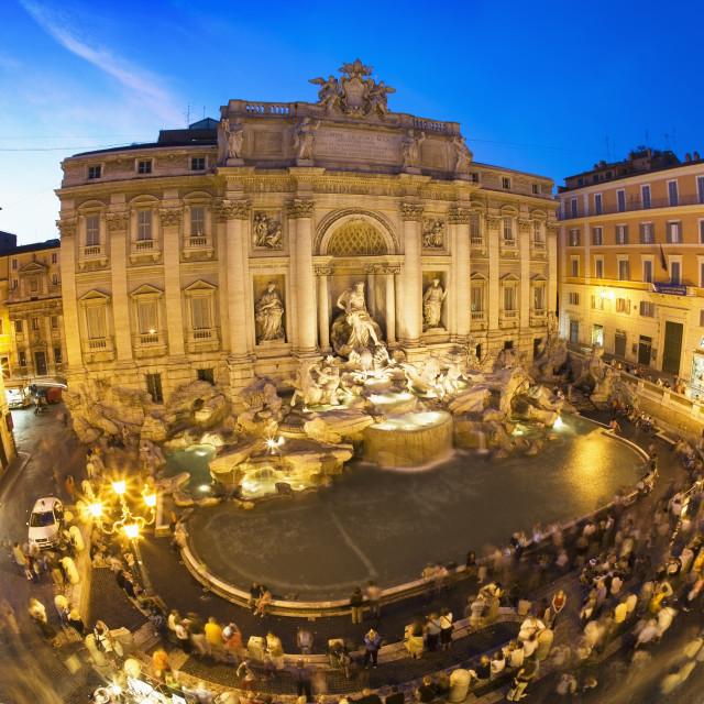 """Trevi Fountain at dusk"" stock image"