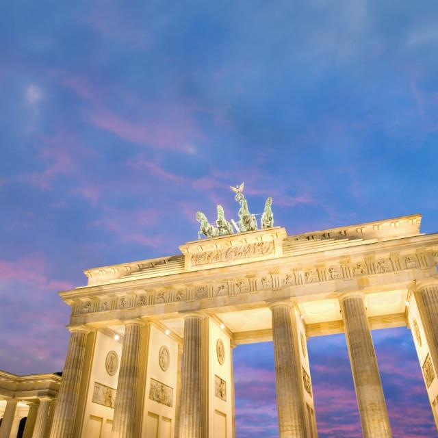 """""""Brandenburg Gate at dusk"""" stock image"""