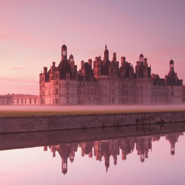 """""""Chateau Chambord at dawn"""" stock image"""