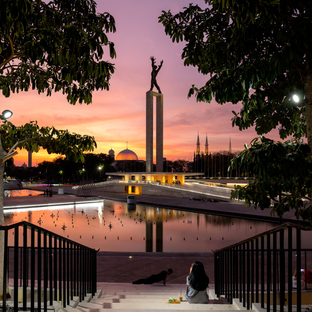 """""""Lapangan Banteng - Jakarta"""" stock image"""